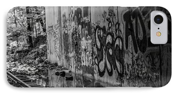 Graffitti And Train Tracks IPhone Case
