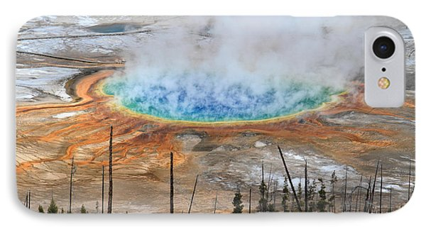 Grand Prismatic Springs In Yellowstone National Park Phone Case by Pierre Leclerc Photography