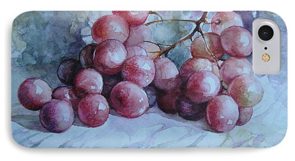 IPhone Case featuring the painting Grapes... by Elena Oleniuc