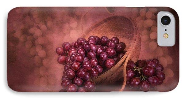 Grapes In Wicker Basket IPhone Case