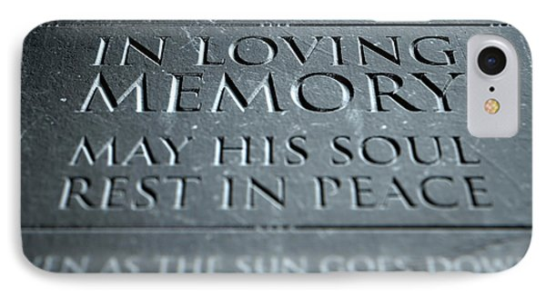 Gravestone In Loving Memory IPhone Case by Allan Swart