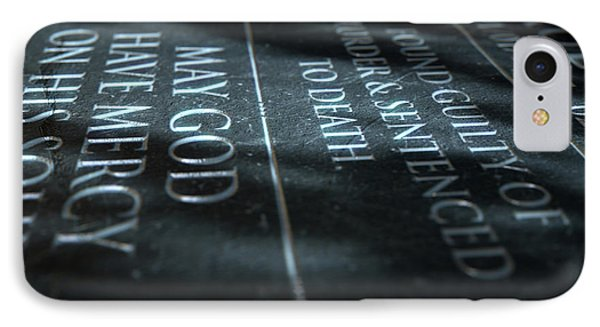 Gravestone Of Convicted Murderer IPhone Case by Allan Swart