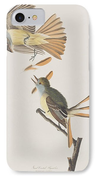 Great Crested Flycatcher IPhone 7 Case by John James Audubon
