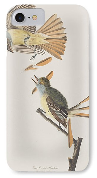 Great Crested Flycatcher IPhone Case by John James Audubon