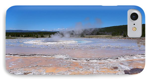 Great Fountain Geyser In Yellowstone National Park Phone Case by Louise Heusinkveld