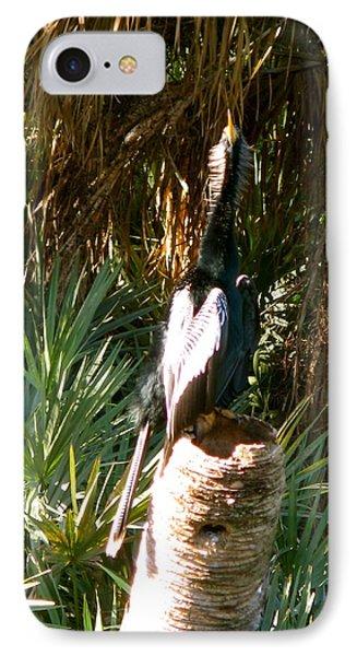 Green Cay Bird Phone Case by Fanny Diaz
