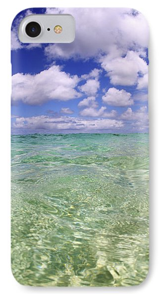 Green Water Seascape Phone Case by Vince Cavataio