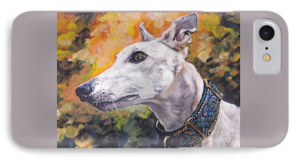 IPhone Case featuring the painting Greyhound Portrait by Lee Ann Shepard