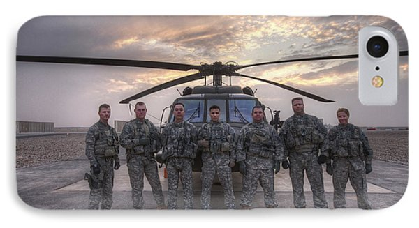 Group Photo Of Uh-60 Black Hawk Pilots IPhone Case by Terry Moore