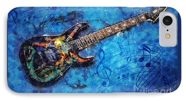 IPhone Case featuring the digital art Guitar Love by Ian Mitchell