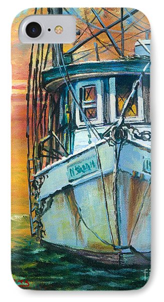 IPhone Case featuring the painting Gulf Coast Shrimper by Dianne Parks