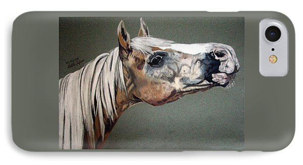 IPhone Case featuring the drawing Haflinger by Melita Safran