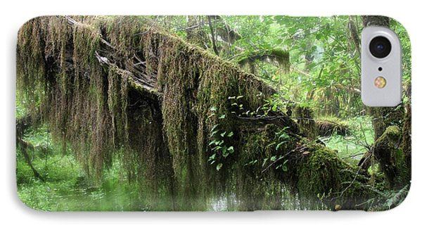 Hall Of Mosses - Hoh Rain Forest Olympic National Park Wa Usa Phone Case by Christine Till