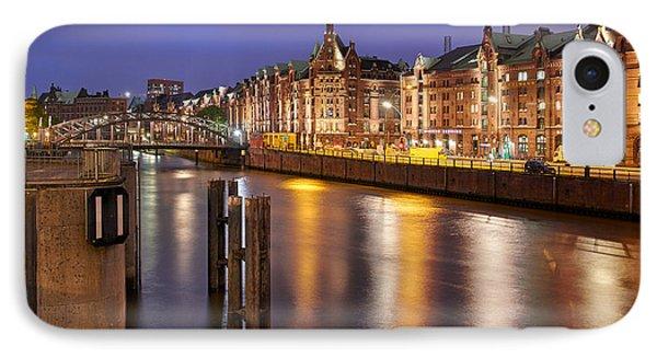 Hamburg Speicherstadt Phone Case by Marc Huebner