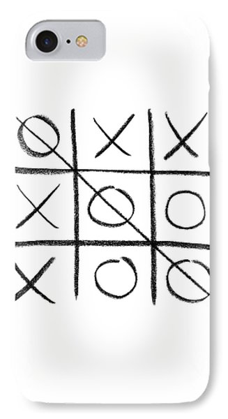 Hand-drawn Tic-tac-toe Game IPhone Case