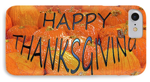 Happy Thanksgiving Pumpkins IPhone Case by David Lee Thompson