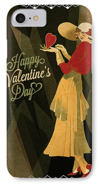 IPhone Case featuring the digital art Happy Valentines Day by Jeff Burgess