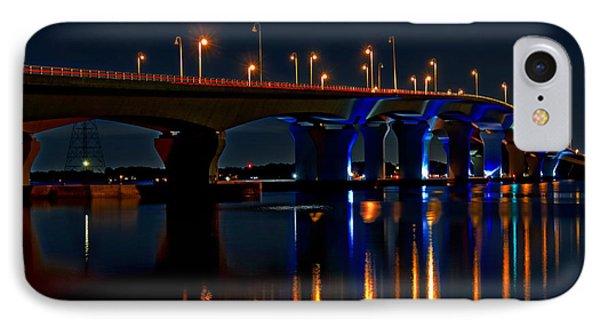 Hathaway Bridge At Night IPhone Case by Anthony Dezenzio