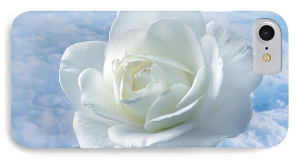 Heavenly White Rose. IPhone Case by Terence Davis