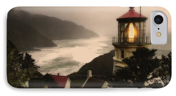 Heceta Head Lighthouse Oregon IPhone Case by Bob Christopher