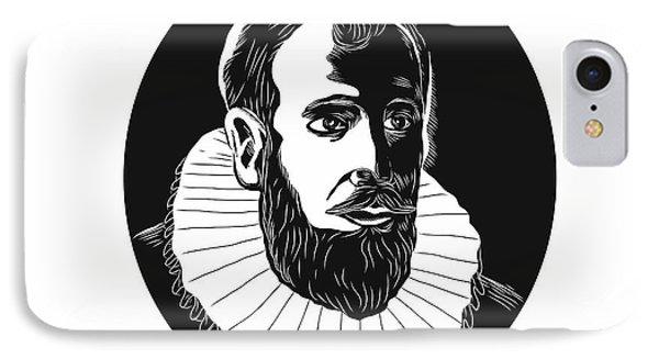 Henry Hudson Explorer Woodcut IPhone Case by Aloysius Patrimonio