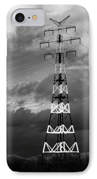 High-voltage Tower IPhone Case by Boyan Dimitrov