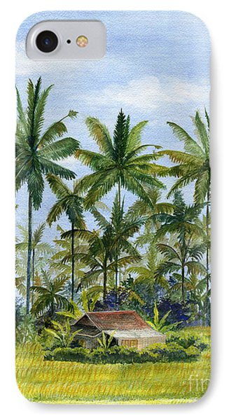 IPhone Case featuring the painting Home Bali Ubud Indonesia by Melly Terpening
