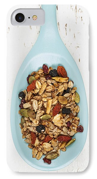 Homemade Granola In Spoon IPhone Case by Elena Elisseeva