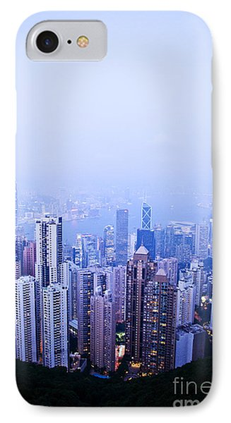 Hong Kong Skyline Phone Case by Ray Laskowitz - Printscapes