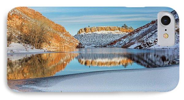 Horsetooth Reservoir In Winter Scenery IPhone Case