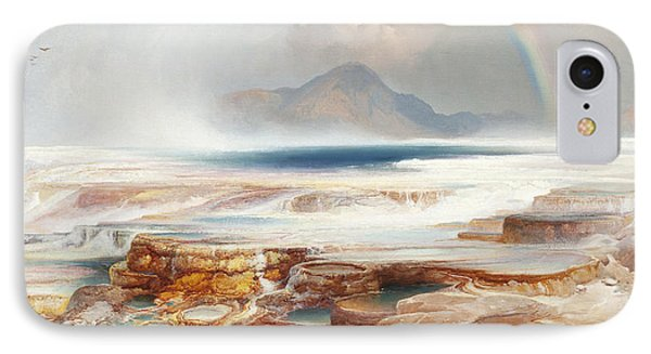 Hot Springs Of The Yellowstone IPhone Case by Thomas Moran