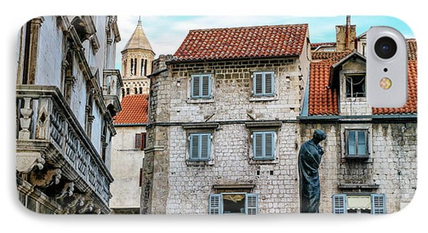 Houses And Cathedral Of Saint Domnius, Dujam, Duje, Bell Tower Old Town, Split, Croatia IPhone Case