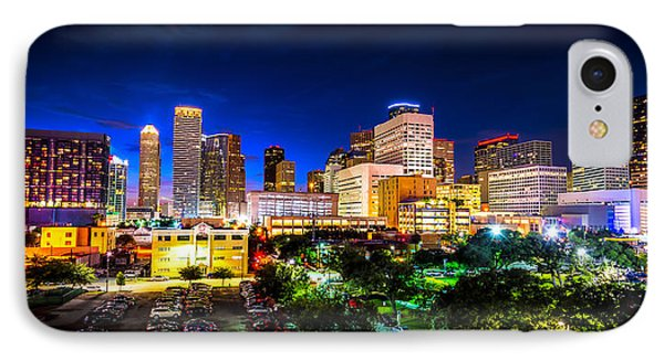 IPhone Case featuring the photograph Houston City Lights by David Morefield