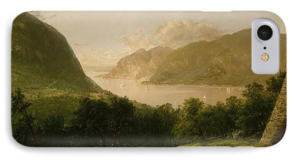Hudson River Scene IPhone Case by John Frederick Kensett