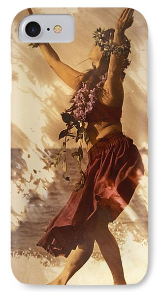 Hula On The Beach IPhone Case by Himani - Printscapes