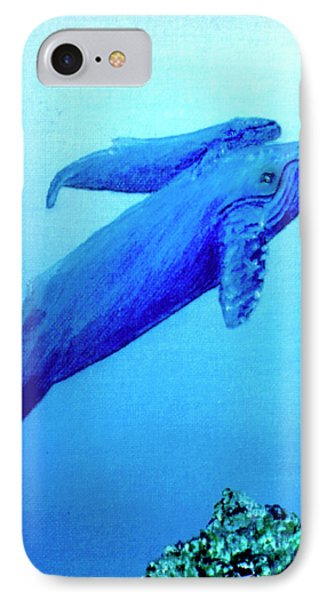 Humpback Mother Whale And Calf #21 Phone Case by Donald k Hall