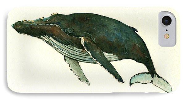 Humpback Whale  IPhone 7 Case by Juan  Bosco