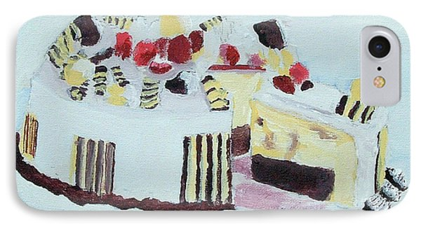 Ice Cream Cake Oil On Canvas IPhone Case