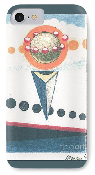 IPhone Case featuring the drawing Idea Ismay by Rod Ismay