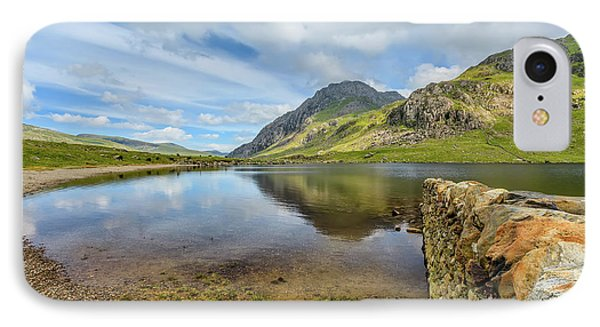 IPhone Case featuring the photograph Idwal Lake Snowdonia by Adrian Evans