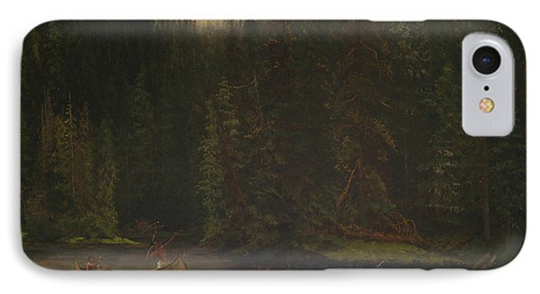 Indian Hunters In Canoe IPhone Case