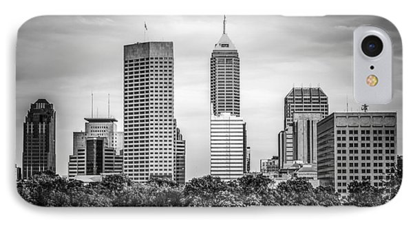Indianapolis Skyline Black And White Picture IPhone Case