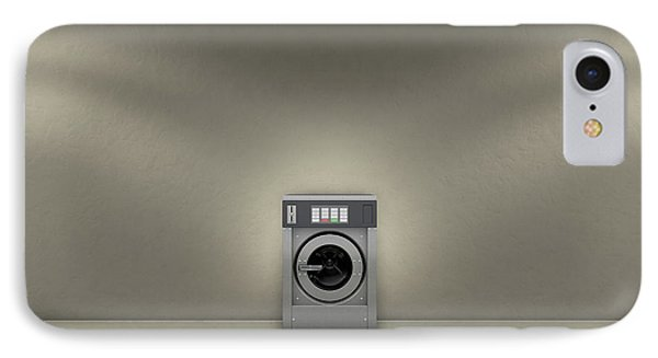 Industrial Washer In Empty Room IPhone Case by Allan Swart