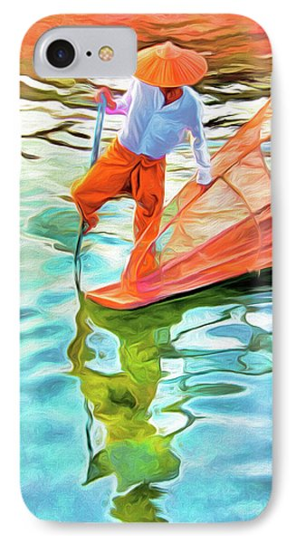 Inle Lake Leg-rower Phone Case by Dennis Cox
