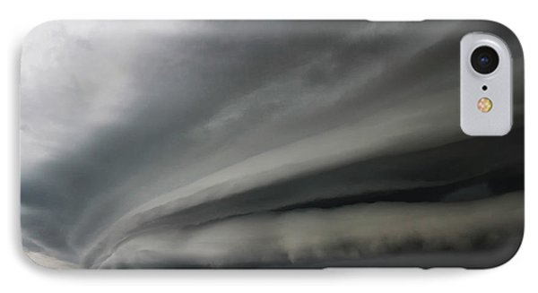 Intense Shelf Cloud IPhone Case by Ryan Crouse
