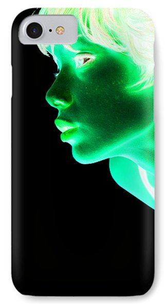 Inverted Realities - Green  IPhone Case by Serge Averbukh