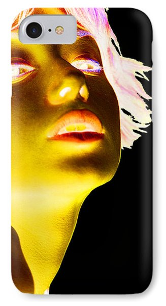 Inverted Realities - Yellow  IPhone Case by Serge Averbukh
