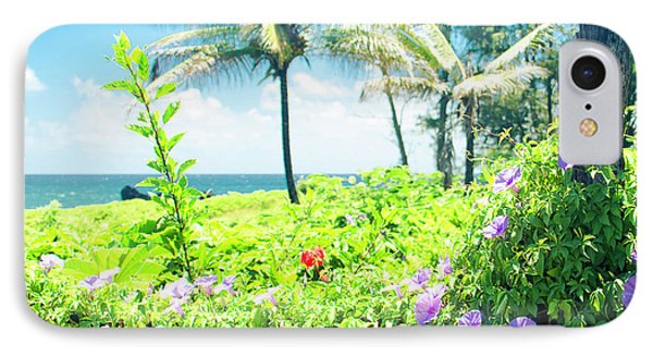IPhone Case featuring the photograph Ipomoea Keanae Morning Glory Maui Hawaii by Sharon Mau