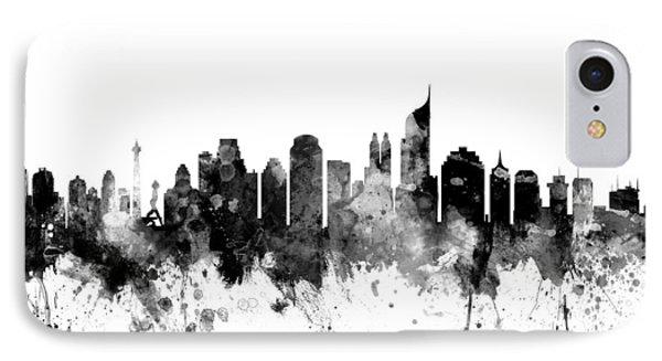 Jakarta Skyline Indonesia IPhone Case by Michael Tompsett