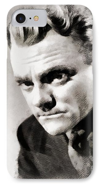 James Cagney Hollywood Actor IPhone Case by John Springfield